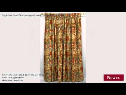 English Antique Valance/drape Country Textiles and Rugs