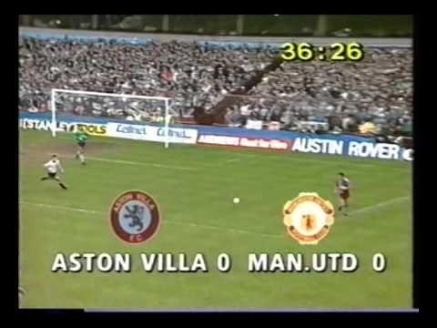 Aston Villa 0 Manchester Utd 0 - League Div 1 - 12th March 1989