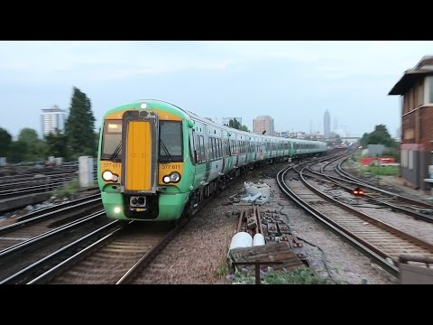 South West Trains and Southern Action at Clapham Junction (UK)