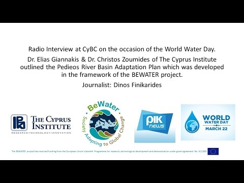 Radio interview at CyBC on the occasion of the World Water Day