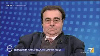 Omnibus - Le scelte di Mattarella. I dilemmi di Renzi (Puntata 08/12/2016)