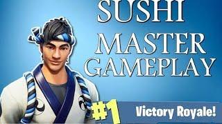 Sushi Master Skin Gameplay! Come Watch The Stream - FortniteBR Fortnite Battle Royale New Skin
