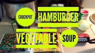 Vee's Kitchen:  Hamburger Soup