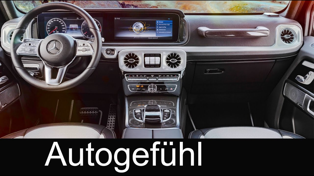 All-new Mercedes G-Class Interior Preview G-Klasse 2018 - Autogefühl ...