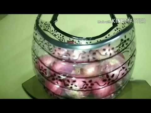 storage basket out of plastic jar ,   best out of waste