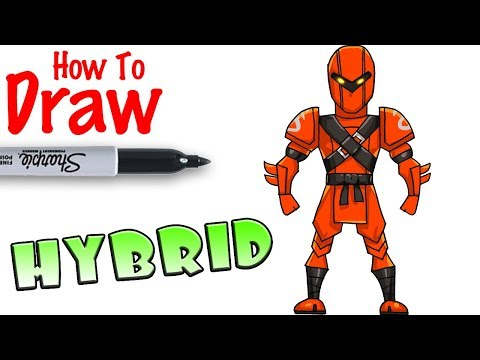 How to Draw Hybrid | Fortnite