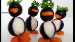 Trauben - Pinguine für dein Buffet | Fafolia