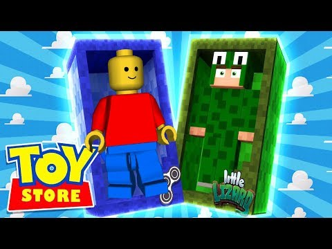 LEGO DESTRUCTION! - Minecraft Toy Store w/ LittleLizardGaming