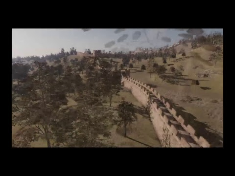 Dynasty Warriors 9 riding the great wall snowy mountain