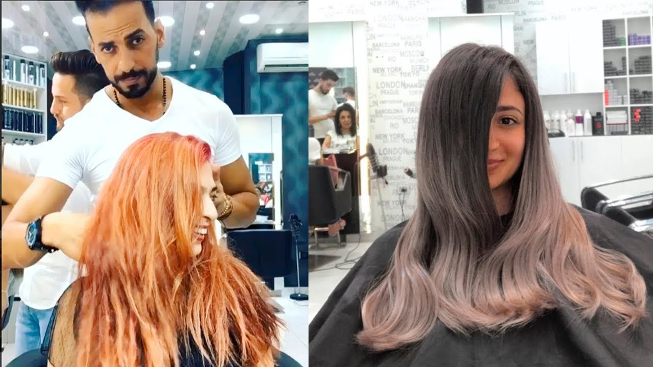 best hair transformation compilation by professional hairstylist abedallahitani