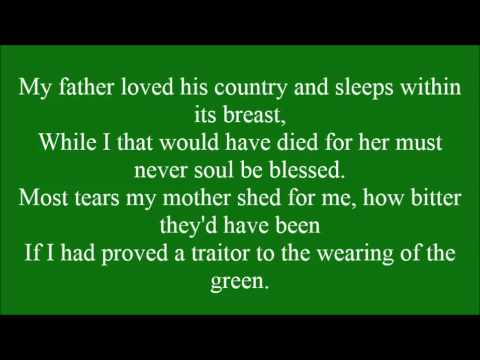 The  Wearing of the Green with lyrics