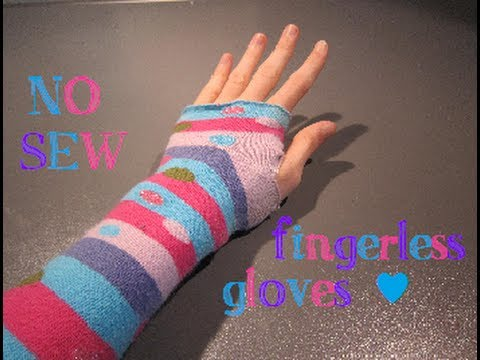 DIY mini: NO-SEW Fingerless Gloves - ABCrafts - YouTube