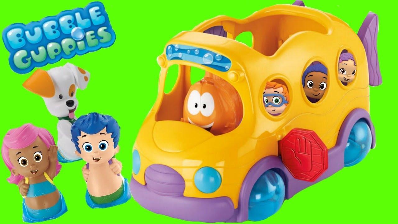 sc 1 st  YouTube & Bubble Guppies Swim Sensational School Bus Toy - YouTube