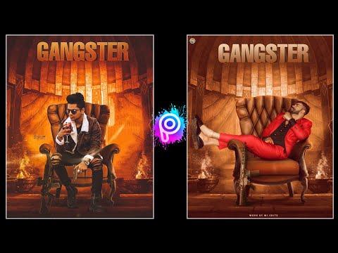 Gangster Photo Editing Tutorial In PicsArt | Gangster Poster Editing In PicsArt ||-Tiger Editz