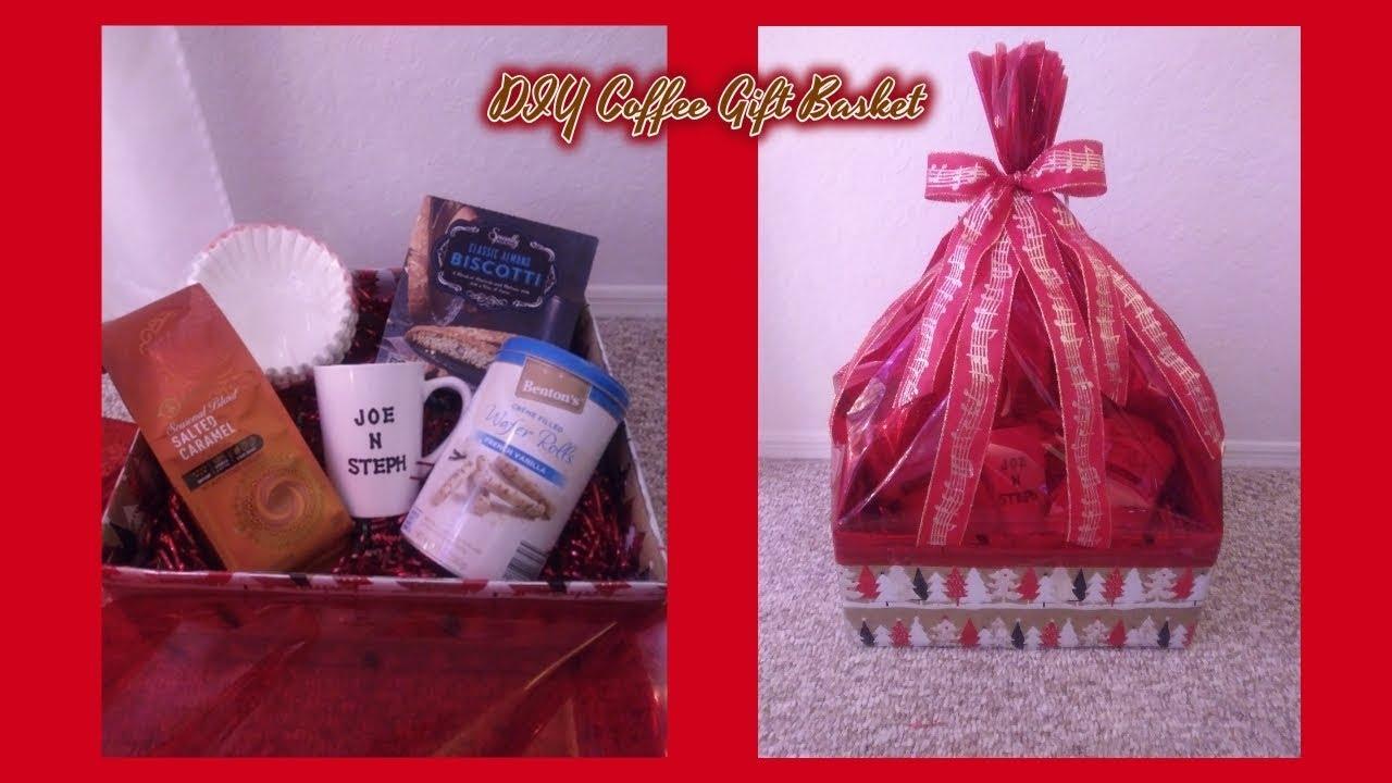 DIY Coffee Gift Basket 2017 | Christmas 🎁 - YouTube