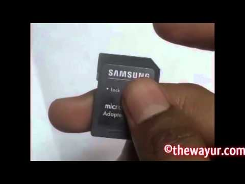 how to delete write protected files on sd card