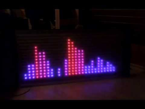 Audio Spectrum Analyzer using RGB LED Matrix and Arduino Due