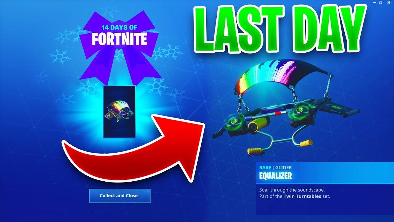 Last Day Reward Glider Dj Equalizer Leaked 14 Days Of Fortnite