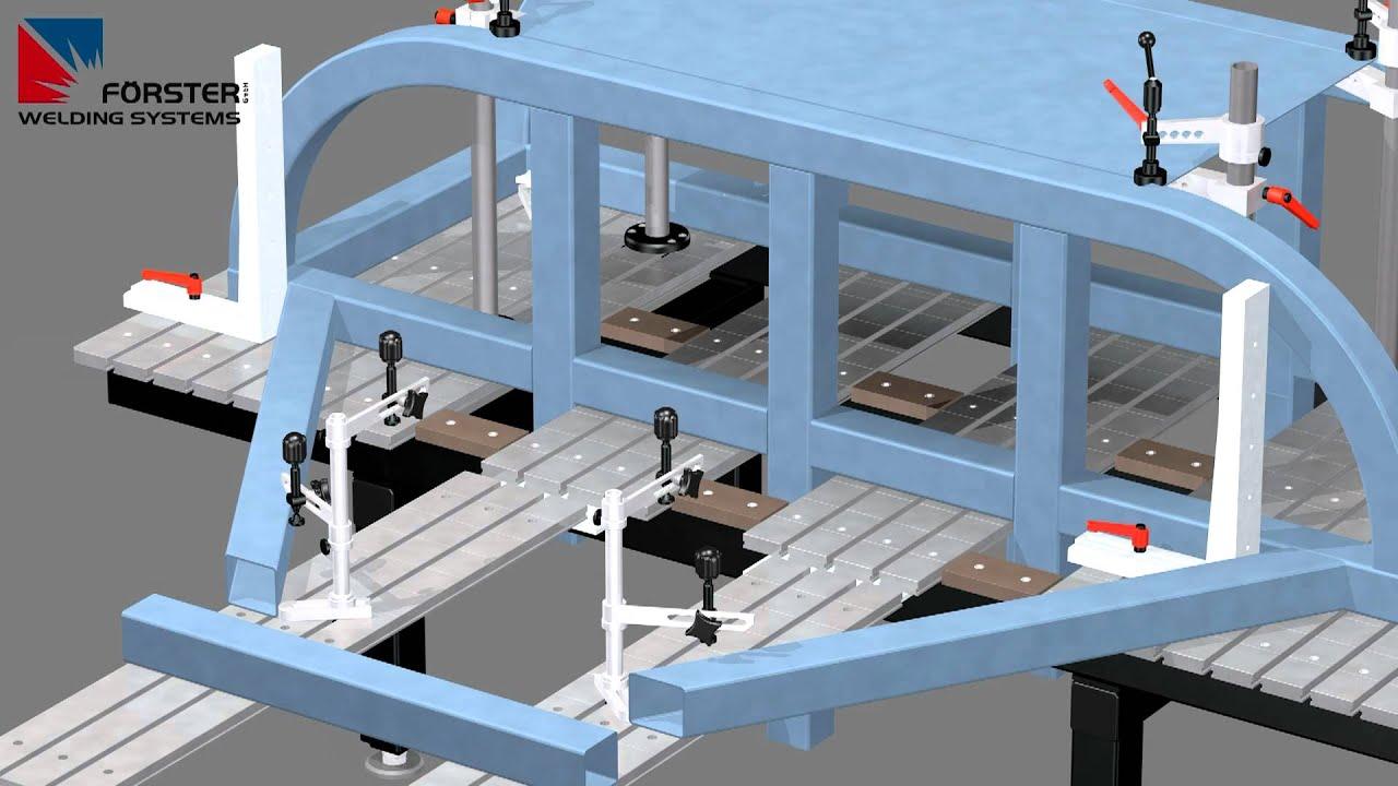 Forster Welding Table ... Schweißtisch System - Schweißtische - Welding table system - YouTube