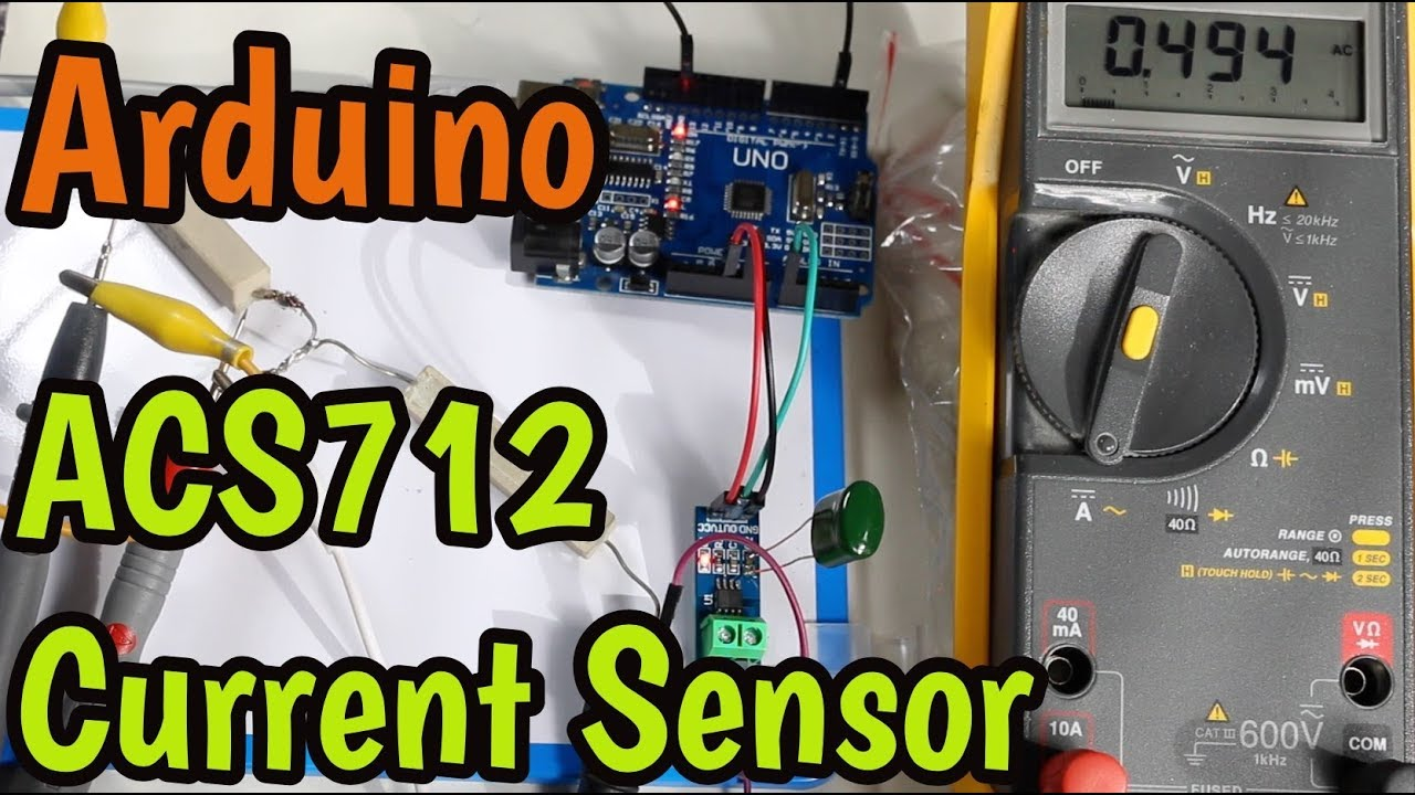 ACS712 Current Sensor with Arduino - Measure AC and DC up to 30 amps