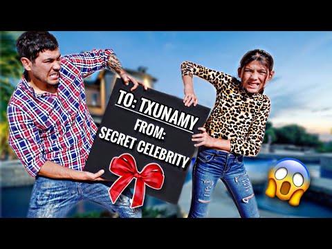 TXUNAMY Got A Gift From A SECRET CELEBRITY & Dad Freaks OUT!!!** | Familia Diamond