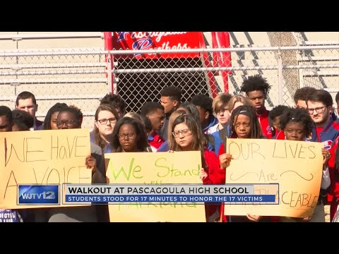 Pascagoula High School Participates in National Walkout Day