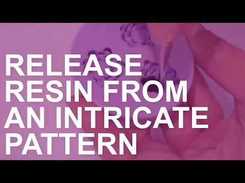 How to apply mold release to an intricate pattern silicone mold