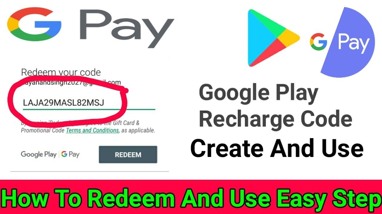 how to redeem google play recharge code || how to create ...