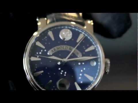 Arnold and Son True Moon Moonphase with Diamond Constellation Dial.mov