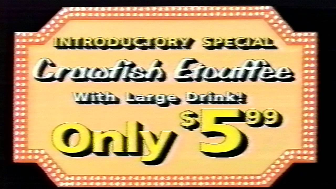 New Orleans Hamburger Seafood 1996 Commercial Youtube
