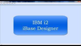 3Temel IBM i2 iBase tasarımcıs…