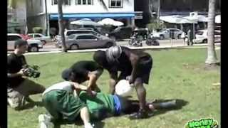Kimbo Slice Football Tackle