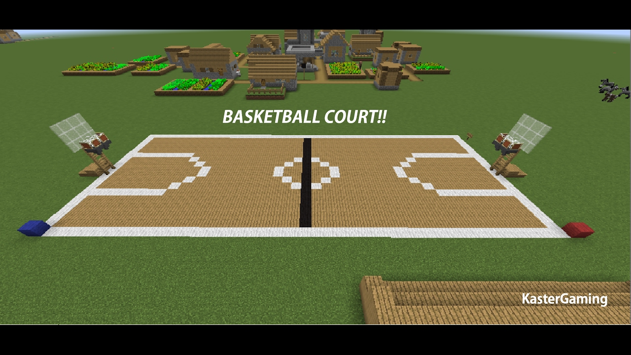 Minecraft Tutorial How To Make A Basketball Court Youtube
