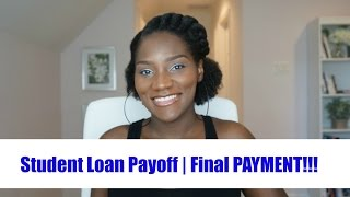 Paying of Student Loans  Over $90,000 of Debt   FINAL PAYMENT   Financial Freedom   FrugalChicLife