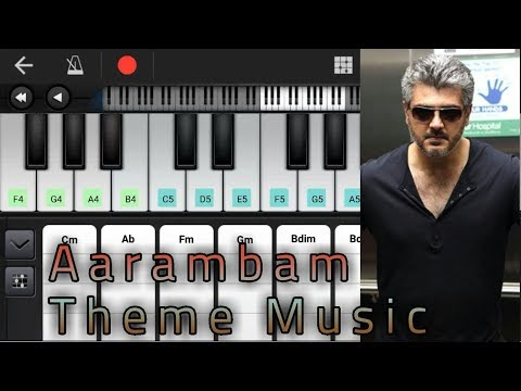 Aarambam Theme Music   Notes & Chords   Yuvan Shankar Raja   Ajith Kumar   Piano