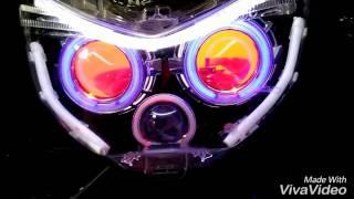 AWAS NYESEL RETROFIT N-MAX PROJECTOR HID DAN LED ALIS( RK MOTOR TASIKMALAYA )