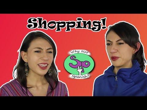Shopping in Spanish (How much?) ¿Cuánto cuesta? De compras en español y preguntar precios