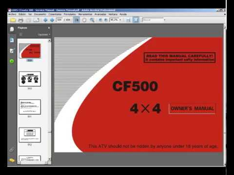 GOES  CFmoto 500  Service Manual  Owners Manual