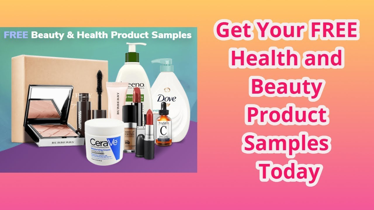 Free health and beauty samples by mail