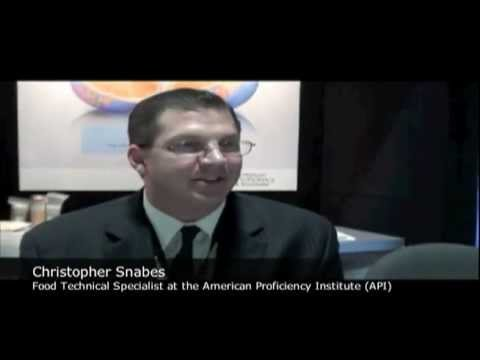 Christopher Snabes, Food Technical Specialist with the American Proficiency Institute
