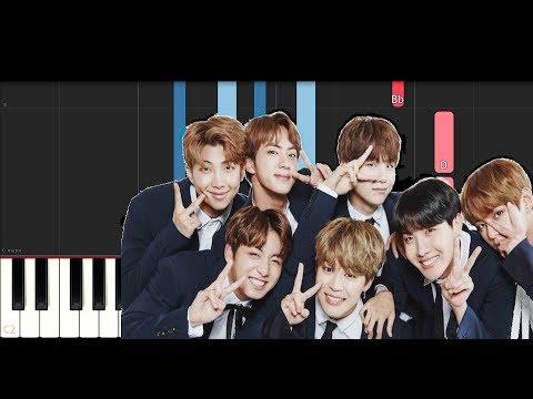 BTS - Outro  HER (Piano Tutorial Instrumental)