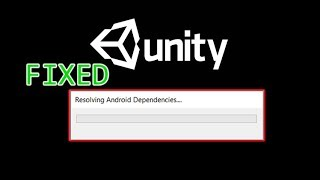 Unity Resolving Android Dependencies stuck ✅ [ FIXED ]