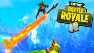 ROCKET RIDE GONE WRONG! - Fortnite Battle Royale with The Crew!