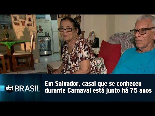 Em Salvador, casal que se conheceu durante o Carnaval está junto há 75 anos | SBT Brasil (05/03/19)