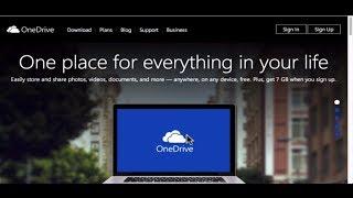 Microsoft OneDrive SkyDrive Windows Tutorial 2014