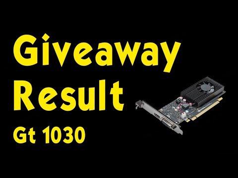 GT 1030 Graphics Card Giveaway Result - Hitesh KS Hindi Gaming