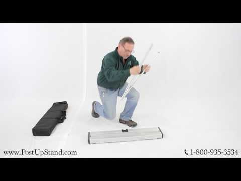 The Edge Retractable Banner Stand Assembly Video