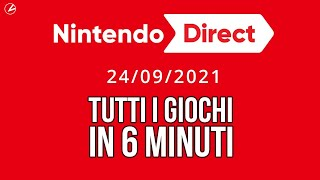 Nintendo Direct RIASSUNTO: TUTTI I GIOCHI in 6 MINUTI