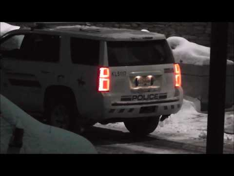West Kelowna rcmp PD is leaving their vehicles running