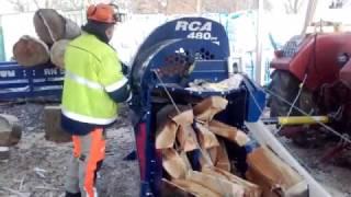 Repeat youtube video combine bois de chauffage TAJFUN RCA 480 coin 12 éclats